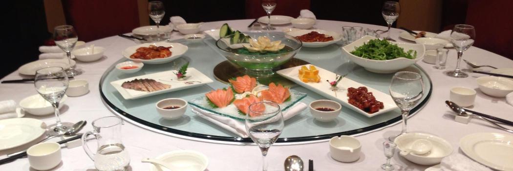 Chinesische Glasdrehteller Für Gastronomie Hotels Privathaushalte
